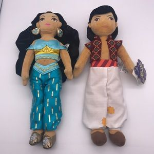 Disney Aladdin & Jasmine Plush Doll Set